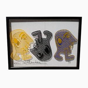 Capitipède Trio Silkscreen Print by Yvon Taillandier, 2015