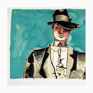 Femme au chapeau Lithografie von Jean Helion, 1980
