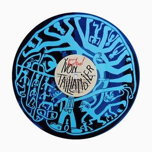 33 tours bleu Siebdruck von Yvon Taillandier, 2018