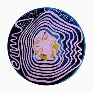 Serigrafía 33 tours rose de Yvon Taillandier, 2018