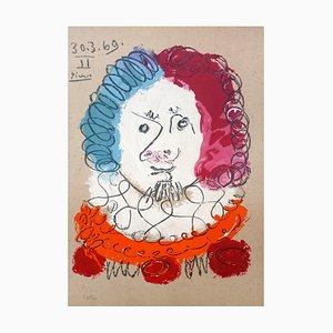 Lithographie Portrait 7 d'après Pablo Picasso par Marcel Salinas, 1969