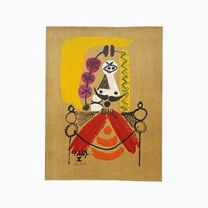 Portrait 8 nach Pablo Picasso Lithografie von Marcel Salinas, 1969
