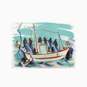 Lithographie Le départ du Navire par Jean Hélion, 1965