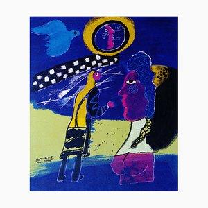 Cobra Siebdruck von Corneille, 2000