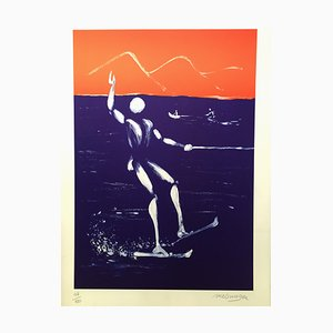 Ski nautique Lithograph by Jérome Mesnager, 2014