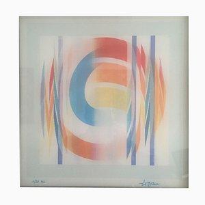Obra en 3D Agamograph Curv 2 de Yaacov Agam, 1977