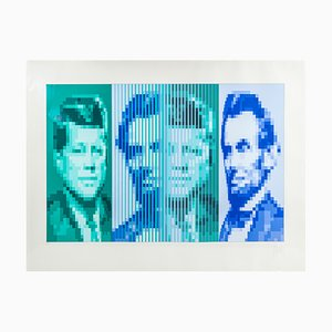 JFK Lincoln Lithograph by Yvaral, 1976