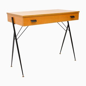 Mid-Century Italian Satinwood Desk, 1960s