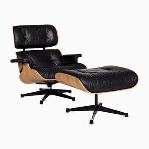 Sedia nera di Charles & Ray Eames per Vitra, anni '80