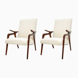 Afromosia Armchairs by Cees Braakman, 1960s, Set of 2
