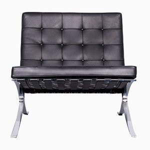 Black Barcelona Chair by Mies van der Rohe for Knoll International, 1980s