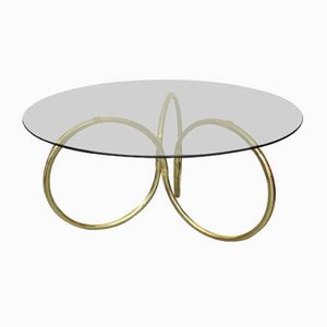 Brass and Glass Coffee Table, 1970s