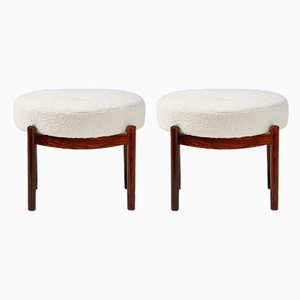 Danish Rosewood Ottomans from Spøttrup, 1950s, Set of 2