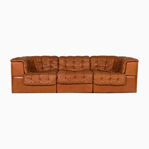 Cognac Brown Leather DS11 Sofa from de Sede, 1970s