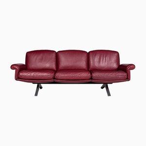DS31 Sofa aus rotem Leder von de Sede, 1970er