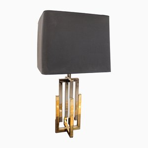 Vintage French Brass Table Lamp by Willy Rizzo, 1970s