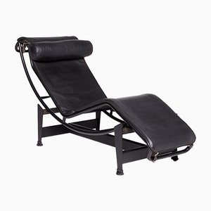 Black LC4 Chaise Longue by Le Corbusier for Cassina, 1960s
