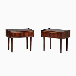 Mid-Century Danish Rosewood Bedside Cabinets, 1960s, Set of 2