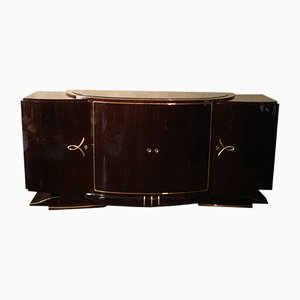 Mid-Century Art Deco French Wooden Sideboard, 1940s