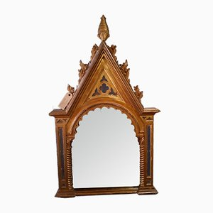 Antique Altar Card Wall Mirror