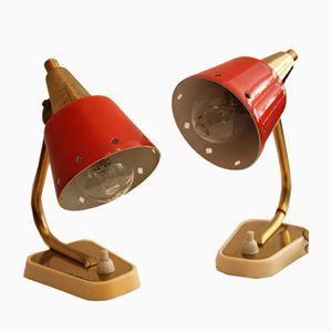 Metal Table Lamps from Heiru Leuchten, 1950s, Set of 2