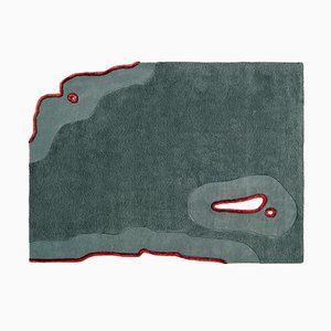Modell Ripped Green and Red Teppich von Daniel Nikolovski & Danu Chirinciuc für KABINET