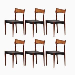 Dänische Esszimmerstühle aus Palisander von Bernard Petersen für Christian Linnebergs, 1960er, 6er Set