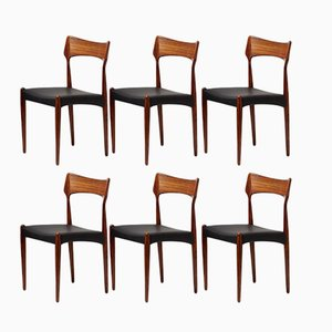 Danish Rosewood Dining Chairs by Bernard Petersen for Christian Linnebergs, 1960s, Set of 6