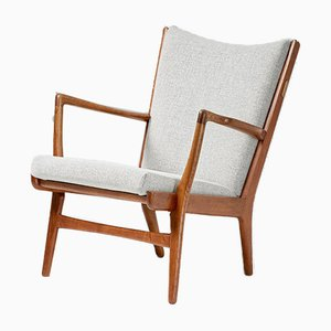 Danish Oak AP-16 Lounge Chair by Hans J. Wegner for A.P. Stolen, 1952