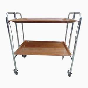 Industrial Nickel-Plated Folding Trolley, 1970s