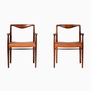 Armlehnstühle aus Palisander von Kai Lyngfeldt-Larsen für Søren Willadsen Møbelfabrik, 1960er, 2er Set