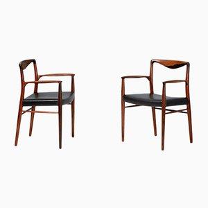 Dänische Armlehnstühle aus Palisander von Kai Lyngfeldt-Larsen für Søren Willadsen Møbelfabrik, 1960er, 2er Set