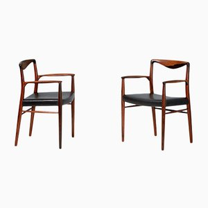 Danish Rosewood Armchairs by Kai Lyngfeldt-Larsen for Søren Willadsen Møbelfabrik, 1960s, Set of 2