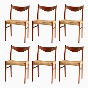 Danish Teak Dining Chairs by Arne Wahl Iversen for Glyngøre Stolefabrik, 1960s, Set of 6