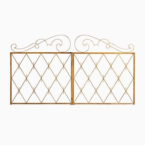 Art Deco French Iron Room Dividers, 1940s, Set of 2