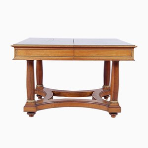 Antique Empire Italian Walnut Extendable Dining Table