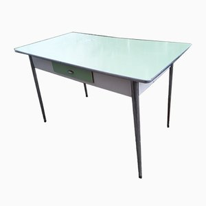 Mid-Century Italian 2-Tone Metal and Formica Dining Table, 1950s