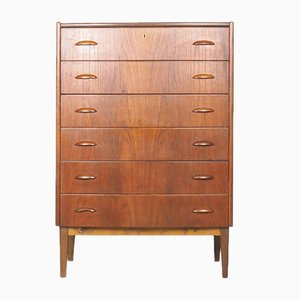 Mid-Century Danish Teak Tallboy Drawers, 1960s