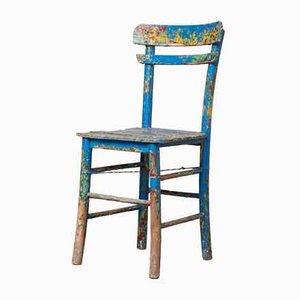Sedia vintage rustica in legno dipinto