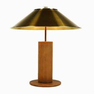 German Brass and Stainless Steel Table Lamp by Peter Preller for Tecta, 1980s