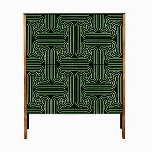 Green Four Door Loop Cabinet by Coucou Manou