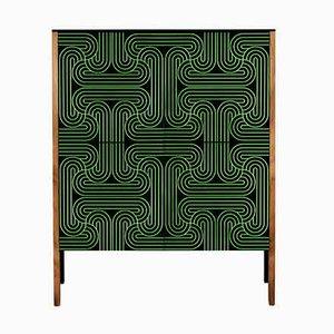Green Four Door Loop Cabinet by Coucou Manou