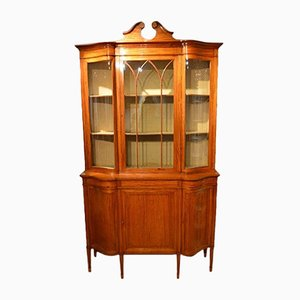 Edwardian Satinwood Display Cabinet from Maple & Co