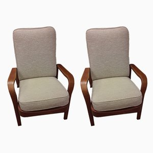 Wooden Tecta Armchairs by Eric Lyons for Packet Furniture, 1950s, Set of 2