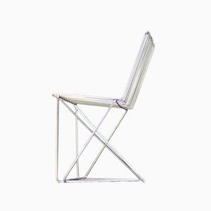 French Steel Dining Chair by François Arnal for Atelier A, 1970s