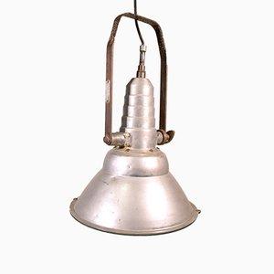 Industrielle italienische Deckenlampe aus Aluminium von Coemar Lighting, 1960er