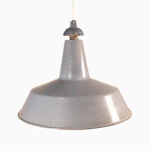 Lampada da soffitto piccola industriale in alluminio, anni '50