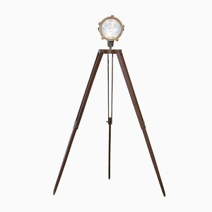 Mid-Century Nautical Tripod Floor Lamp, 1950s