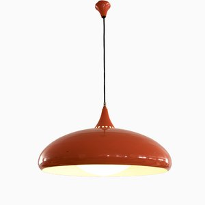 Space Age Italian Orange Pendant Lamp, 1960s