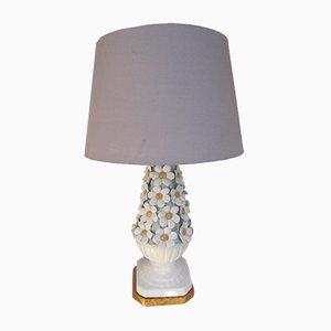 Florale Vintage Manises Keramiklampe, 1960er